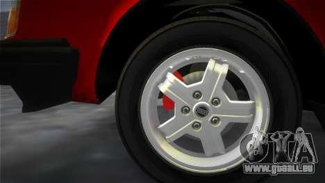 Volvo 242 Turbo Evolution für GTA Vice City Innenansicht