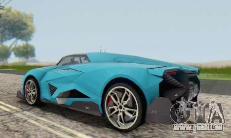Lamborghini Egoista Concept 2013 für GTA San Andreas Rückansicht