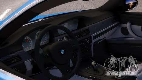 BMW M3 E92 pour GTA 4 Vue arrière de la gauche