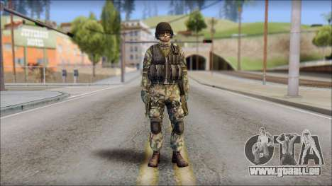 Forest GROM from Soldier Front 2 pour GTA San Andreas