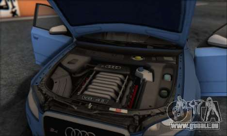 Audi S4 4.0 Quattro 2006 pour GTA San Andreas salon