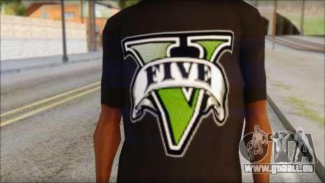GTA 5 T-Shirt pour GTA San Andreas troisième écran