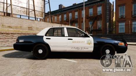 Ford Crown Victoria Sheriff [ELS] Slicktop für GTA 4 linke Ansicht