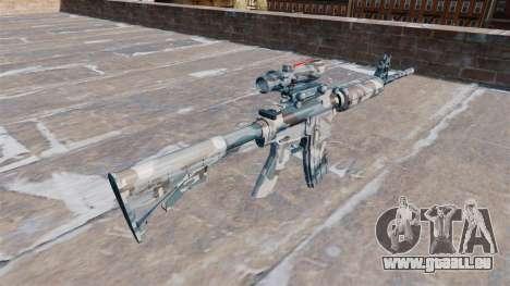 Automatique carabine MA fondre de la neige Camo pour GTA 4 secondes d'écran