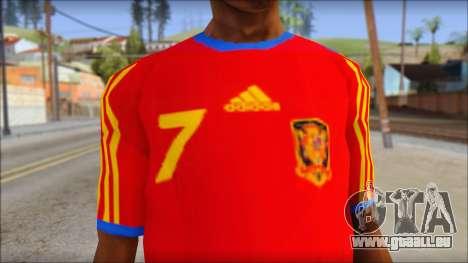 Spanish Football Shirt pour GTA San Andreas troisième écran