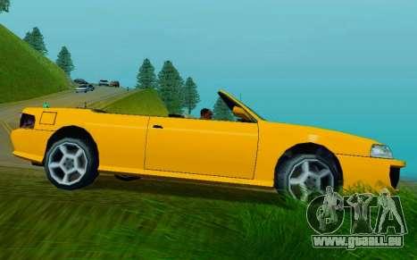 Sultan Сabriolet v2.0 für GTA San Andreas zurück linke Ansicht