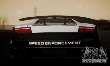 Lamborghini Gallardo LP 570-4 2011 Police v2 pour GTA San Andreas sur la vue arrière gauche