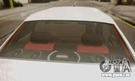 Peugeot Pars Limouzine pour GTA San Andreas vue arrière