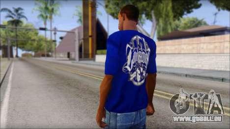 Lowrider Blue T-Shirt pour GTA San Andreas deuxième écran