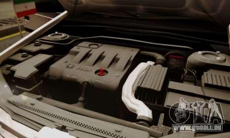 Peugeot Pars Limouzine pour GTA San Andreas vue de dessous