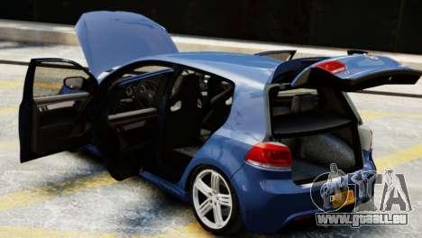 Volkswagen Golf R 2010 für GTA 4 Rückansicht