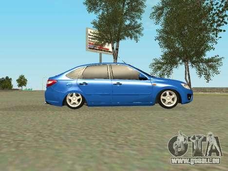 Lada Granta Liftback pour GTA San Andreas vue de dessous