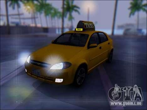 Chevrolet Lacetti Taxi für GTA San Andreas obere Ansicht