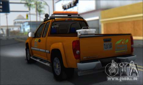 Chevrolet Colorado Cleaning für GTA San Andreas linke Ansicht