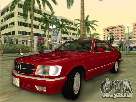 Mercedes-Benz 560SEC (W126) 1987 für GTA Vice City