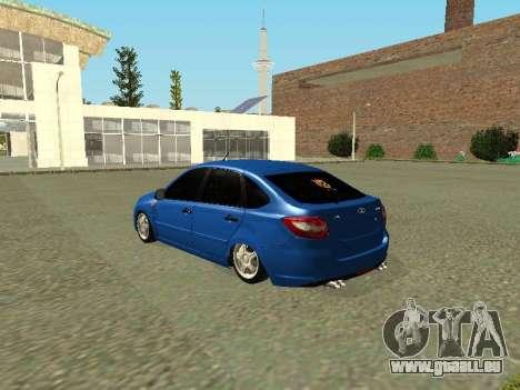Lada Granta Liftback pour GTA San Andreas sur la vue arrière gauche