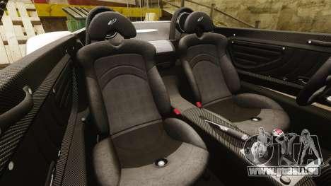 Pagani Zonda C12S Roadster 2001 v1.1 PJ4 für GTA 4 Seitenansicht