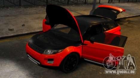 Land Rover Range Rover Evoque für GTA 4 Rückansicht