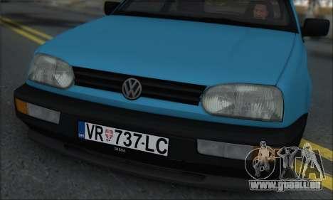 Volksvagen Golf Mk3 pour GTA San Andreas sur la vue arrière gauche