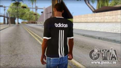 Adidas Black T-Shirt für GTA San Andreas zweiten Screenshot