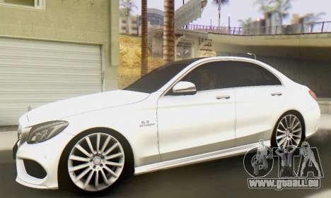 Mercedes-Benz C250 AMG pour GTA San Andreas laissé vue