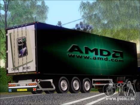 Trailer AMD Phenom X4 für GTA San Andreas rechten Ansicht