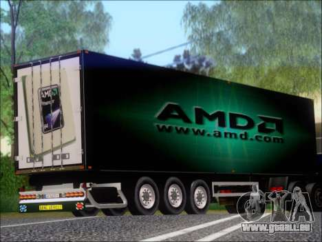 Remorque AMD Phenom X4 pour GTA San Andreas vue de droite