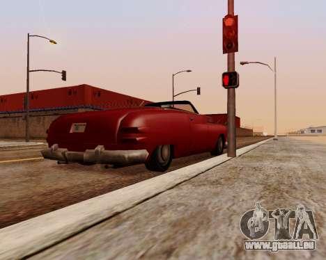 Hermes Cabrio für GTA San Andreas zurück linke Ansicht