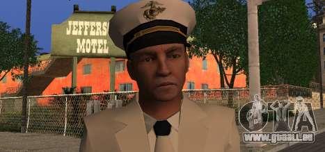 Navy Officer pour GTA San Andreas troisième écran
