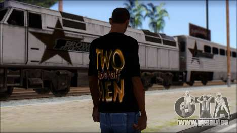 Two and a half Men Fan T-Shirt pour GTA San Andreas deuxième écran