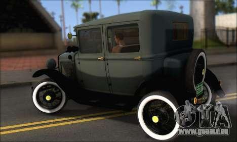 Ford T 1927 für GTA San Andreas zurück linke Ansicht