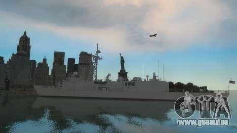 U.S. Navy frigate pour GTA 4 Vue arrière de la gauche