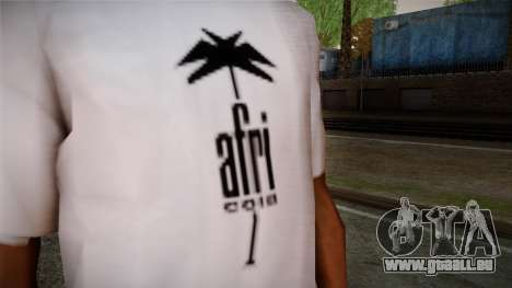 Afri Cola White Shirt für GTA San Andreas dritten Screenshot