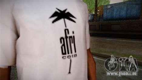 Afri Cola White Shirt pour GTA San Andreas troisième écran