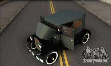 Ford T 1927 pour GTA San Andreas vue intérieure