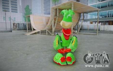 Vortex Rayman Skin pour GTA San Andreas deuxième écran