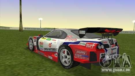 Toyota Supra RZ JZA80 Super GT Type 6 pour une vue GTA Vice City de la gauche