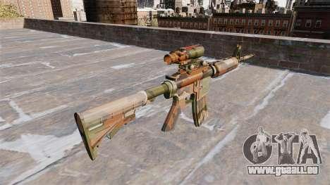 Automatique carabine MA Mercure Camo pour GTA 4 secondes d'écran