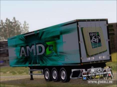 Remorque AMD Athlon 64 X2 pour GTA San Andreas sur la vue arrière gauche