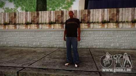 Black RX T-Shirt für GTA San Andreas dritten Screenshot