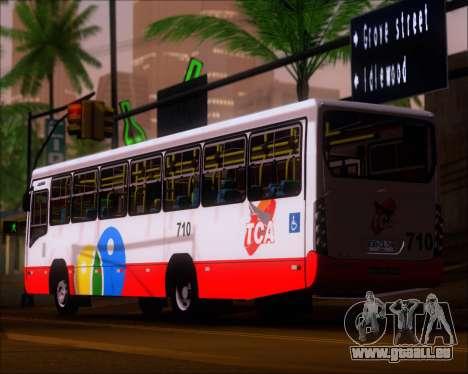 Neobus Mega IV - TCA (Araras) für GTA San Andreas zurück linke Ansicht