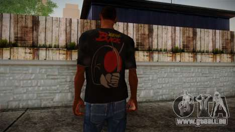 Black RX T-Shirt für GTA San Andreas zweiten Screenshot