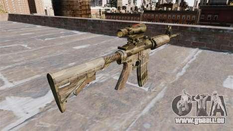 Automatic carbine MOI Camouflage Flore pour GTA 4 secondes d'écran