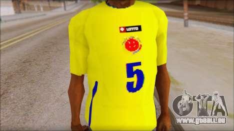 T-Shirt Colombia pour GTA San Andreas troisième écran
