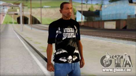 A7X Deathbats Fan T-Shirt Black pour GTA San Andreas