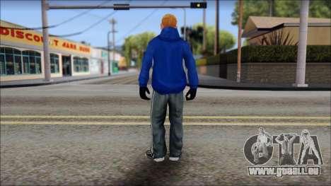 Jimmy from Bully Scholarship Edition pour GTA San Andreas troisième écran