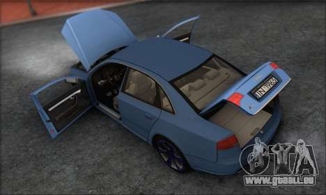 Audi S4 4.0 Quattro 2006 pour GTA San Andreas vue de dessous