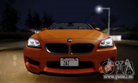 BMW M6 F13 2013 pour GTA San Andreas sur la vue arrière gauche