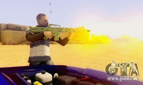 Camo M16 pour GTA San Andreas deuxième écran