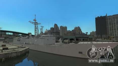 U.S. Navy frigate für GTA 4 linke Ansicht
